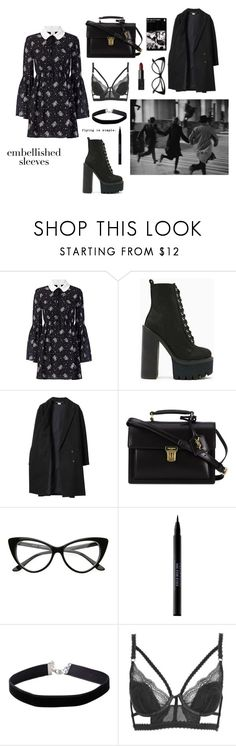 """""""Embellished Sleeves"""" by lottehardy ❤ liked on Polyvore featuring Cinq à Sept, Jeffrey Campbell, Les Prairies de Paris, Yves Saint Laurent, Urban Decay, Miss Selfridge, Topshop, NARS Cosmetics and embellishedsleeves"""