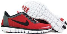 Nike Free 3.0 V2 Womens Red black