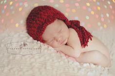 Newborn Photography Prop Crochet Bonnet
