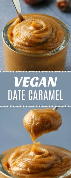 Easy 3-ingredient homemade date caramel that you can use for a variety of purposes - as a pie filling, ice cream swirl or topping, or wherever caramel sauce or caramel flavor is needed! | lovingitvegan.com
