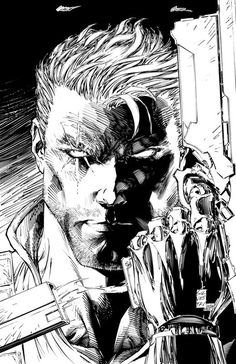 Cable by Marc Silvestri (from Cable #5). An oldie but a goodie.
