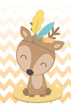 Cute Animal Drawings, Kawaii Drawings, Tribal Animals, Cute Animals, Baby Journal, Boho Theme, Bear Wallpaper, Forest Friends, Baby Scrapbook