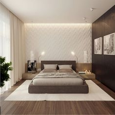 Stunning Creative Bedroom Wallpaper Decor Ideas – Home Decor Apartment Wallpaper Design For Bedroom, Bedroom Bed Design, Wallpaper Decor, Modern Bedroom Design, Bedroom Decor, Wallpaper Ideas, Wall Paper For Bedroom, Wallpaper Desktop, Disney Wallpaper