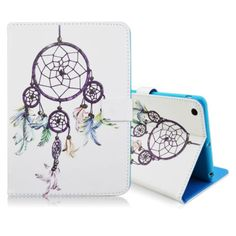 For Apple iPad Mini1/2/3 White Dreamcatcher Folio Stand Leather Case Shockproof
