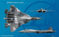 Comparison between PAK FA T-50 and F-22 Raptor   PAK FA cockpit with two large advance multi display unit   PAK FA being assembled in Komsom...