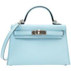 Never Used Hermes Kelly Sellier Mini Epsom Bleu Zephyr - Women's Handbags Hermes Kelly Bag, Hermes Box, Hermes Handbags, Fashion Handbags, Fashion Bags, Work Bags, Vintage Bags, Luxury Bags, Bag Sale