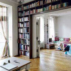 Modern Living Room Storage modern living room interior design ideas - interesting library