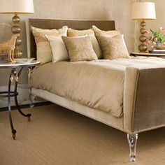 Lucite (Acrylic) Bed Legs