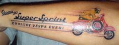 Vespa 90 Super Sprint Tattoo