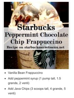 Recipe Creds: http://starbuckssecretmenu.net