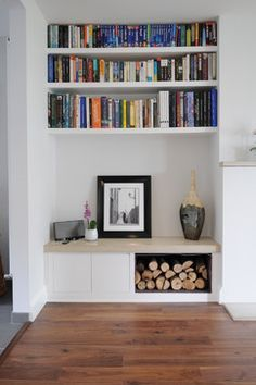 Collection of bespoke fitted furniture projects - contemporary - Living Room - London - Claude Clemaron Bespoke Wood Interiors Eyebrow Makeup Tips London Living Room, New Living Room, My New Room, Room London, Small Living, Log Burner Living Room, Living Room Nook, Modern Living, Living Area