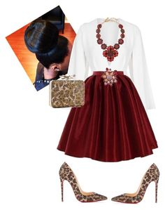 """Church"" by cogic-fashion ❤ liked on Polyvore featuring Rare London, Oscar de la Renta, Jones New York and Christian Louboutin"