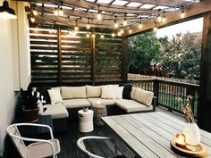 Our New Cedar Deck - Wendy Correen Smith: Our New Cedar Deck; Patio Decor, Patio Design, Backyard Living, Cedar Deck, Outdoor Farmhouse Table, Outdoor Patio Decor, Deck Designs Backyard, Outdoor Deck Furniture, Outdoor Living Space Design