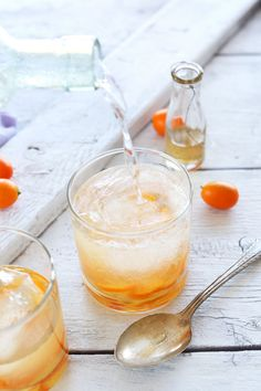 Simple Spring-inspired gin and tonics utilizing sparkling water in place of tonic for a healthier, more natural cocktail. Pick your citrus to customize the flavor.