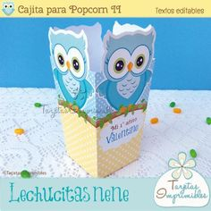 Cajita de Popcorn Lechucitas o Búhos nene II
