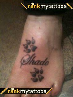 Dog Paw Print Tattoos   Dog Tattoo Design
