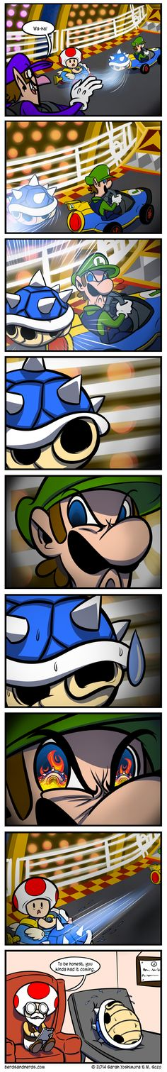 Luigi's death stare. I wish that this would actually happen.