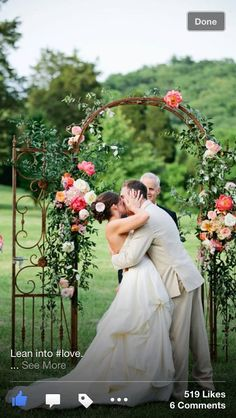 Kelly Provided this arch design of flowers to duplicate for ceremony
