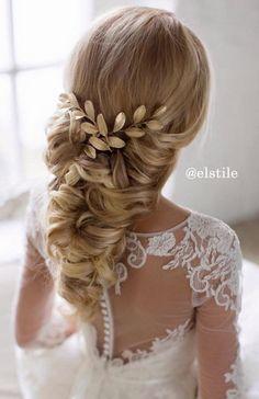 Elstile long wedding hairstyle