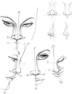 Учимся рисовать fashion-эскиз. Урок 3. Нос