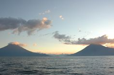 View of Lake Atitlan and the Volcanoes
