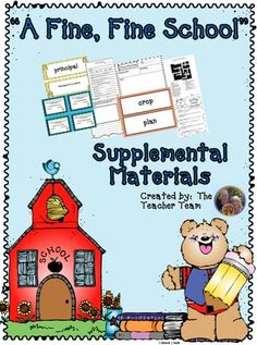 "A Fine, Fine School ~ Supplemental Materials : Journeys aligned! This package contains a variety of activities from the story ""A Fine, Fine School"" to teach, re-teach, practice or assess the various lessons taught. Vocabulary and writing are emphasized and an Essential Question is included! $"