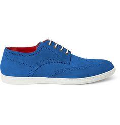 Junya Watanabe Tricker's Suede Brogue Sneakers | MR PORTER
