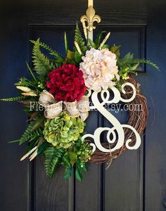 Front Door Wreath, Summer Wreath For Door, Front Door, Year