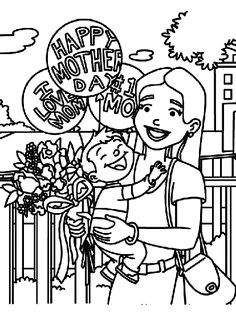 View These Collection Of Happy Mothers Day Coloring Pages For KidsCelebrate With Best Selection