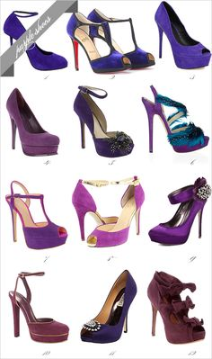 jaw dropping! i wish i had this collection....purple is the new black! ;)