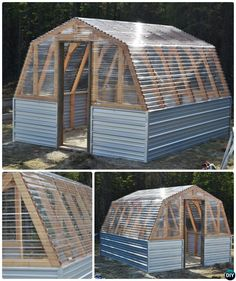 18 DIY Green House Projects [Picture Instructions] with Free Plan, to help protect your gardening productive on a budget all year long. Diy Greenhouse Plans, Window Greenhouse, Small Greenhouse, Greenhouse Gardening, Homemade Greenhouse, Plastic Bottle Greenhouse, Aluminium Greenhouse, Commercial Greenhouse, Diy Garden Fountains