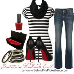 Black, White & Red...a little dressy, a little casual
