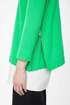 Jumper with side zips