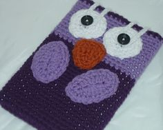 owl ereader case to crochet.