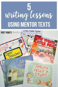I love using picture books to plan writing lessons. My second and third grade students just seem to 'get it' so much quicker when they can see the concept modelled in a mentor text. Teaching Second Grade, 3rd Grade Writing, Kindergarten Writing, Teaching Writing, Third Grade, Literacy, Teaching Ideas, Writing Lessons, Writing Resources