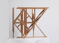 "Olaf Holzapfel [Germany] (b 1969) ~ ""3 Wings Work"", 2013. Pear Wood (57 x 65 x 30 cm). | #art #sculpture #conceptualart"