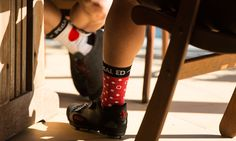 Dario Socks Red Dots  • Comfort Fit & Stretch Fabric • Dry Fast with Dryarn® • Thermo Regulating • Made in Italy Red Dots, Stretch Fabric, Rubber Rain Boots, Socks, Italy, Bike, Fashion, Bicycle, Moda