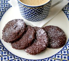 Chocolate Shortbread Cookies with Tart Cherries- These tender little melt-in-the-mouth cookies are ridiculously simple to make in a food processor. Tart Cherries, Dried Cherries, Dried Cranberries, Chocolate Shortbread Cookies, Buttery Cookies, Cherry Recipes, Cherry Tart, Fabulous Foods, Chocolate Recipes