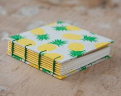 Hand Bound Mini Sketchbook Coptic Stitch by TheEloiseBindery