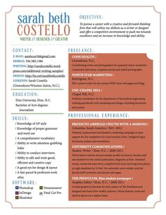 Resume & Coverletter by Sarah Costello, via Behance (love the simplicity, no gimmicks! Resume Styles, Fashion Resume, Cover Letter For Resume, Job Search, Gd, Food For Thought, Good To Know, Entrepreneur, Clever