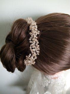 Bridal tiara. Wedding tiara. Swarovski crystals by DesignByIrenne