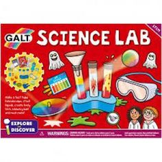 Make a floaty ghost, test tube kaleidoscope and bouncy ball. Play a scary skin crawling game, discover how to stack liquids and make lively lava! Science Lab includes 20 fun experiments and is part of our new Explore & Discover STEM range.