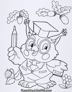 Beautiful owl coloring pages for your little one. They are free and easy to print. Free Kids Coloring Pages, Owl Coloring Pages, Disney Coloring Pages, Coloring Pages For Kids, Coloring Sheets, Adult Coloring, Coloring Books, Free Coloring, Painting Sheets