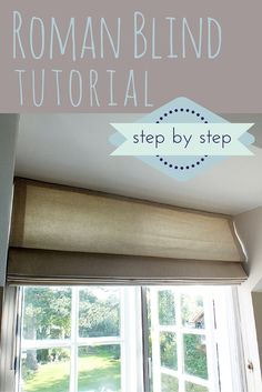 Follow these easy step by step instructions to make a lined roman blind (roman shade).