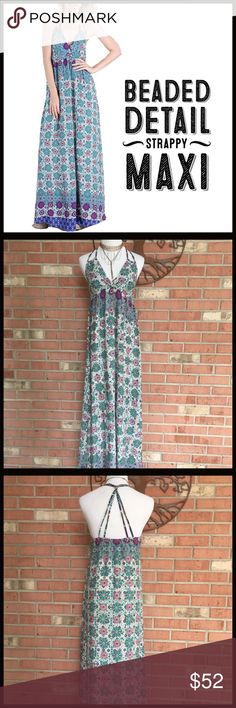 Spotted while shopping on Poshmark: Beaded Detail Maxi! #poshmark #fashion #shopping #style #Boutique #Dresses & Skirts