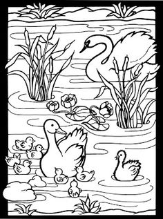 ugly duckling swan coloring page inkspired musings: Ugly ducklings ...