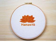 Namasté -Yoga Cross Stitch embroidery pattern, Cross Stitch Pattern, Yoga Pattern, Yoga Cross Stitch, Namaste Pattern -PDF- Instant Download by LanasCrespo on Etsy