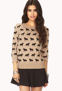 ditsy fox sweater via forever 21. perfect for fall.