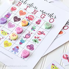 Valentine Monster Bingo from Yellow Bliss Road 550