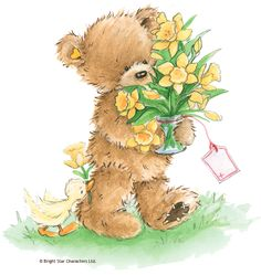 ❤️Popcorn The Bear. Good morning, my friend☀❤ From my awesome sister, Pat!!